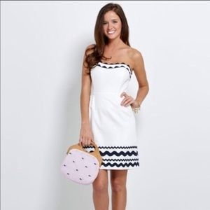 Vineyard Vines Strapless Ric Rac Dress